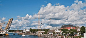 An overview of the inlet of Mystic in New England