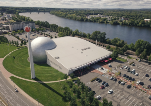 Aerial view of the National Basketball Hall of Fame