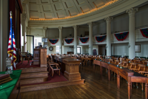 the interior of the Old State Capitol located in America