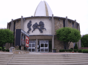 The entrance to the Pro Football Hall of fame
