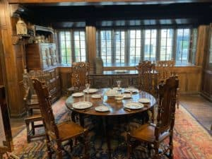 The remodeled dining room in Shibden Hall