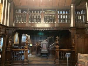 The interior of the Shibden Hall house