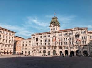 Piazza Unite D'Ilatia in Trieste Italy