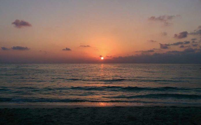 Al Arish sunset over sea