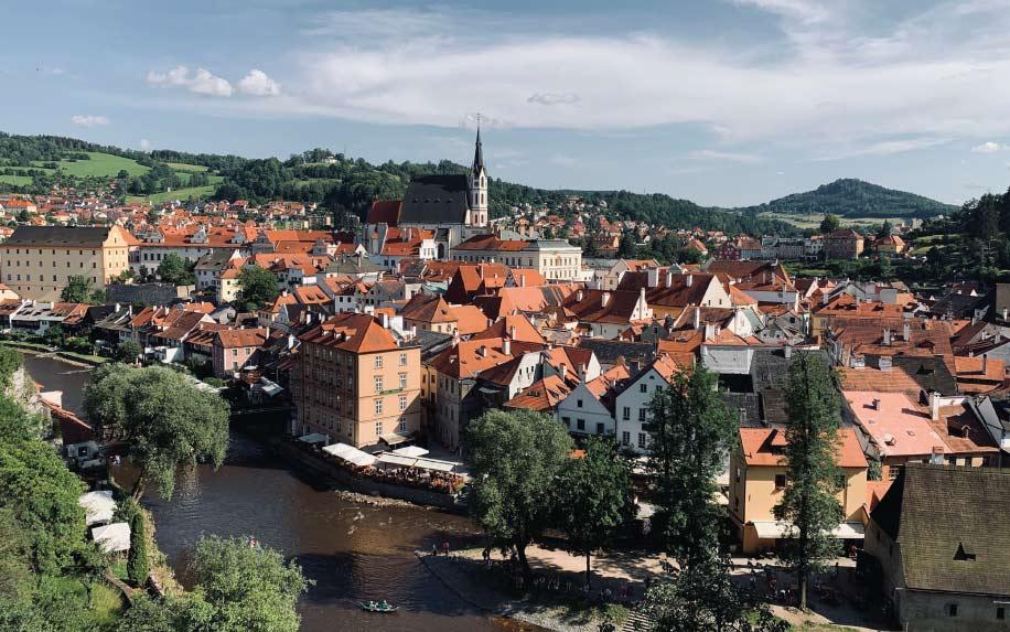 Czech town landscape