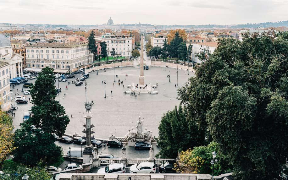 Visit in Rome Piazza