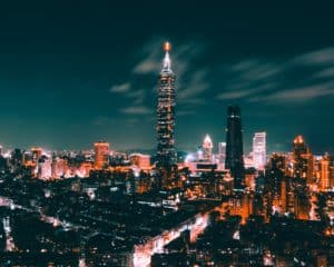 Cityscape of Taiwan at night